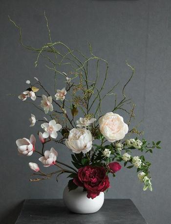 芍薬×マグノアリア 和風スタイル/ CT触媒加工(造花)