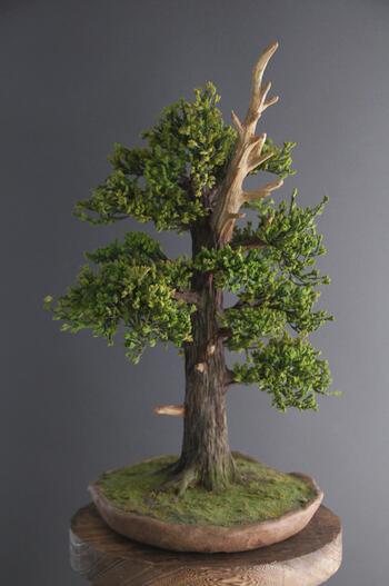 盆栽 杉 #8(造花)