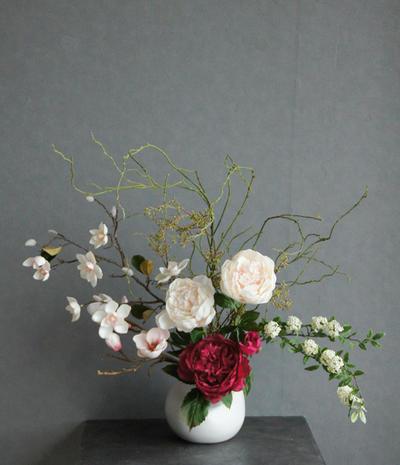 芍薬×マグノリア 和風スタイル(造花)