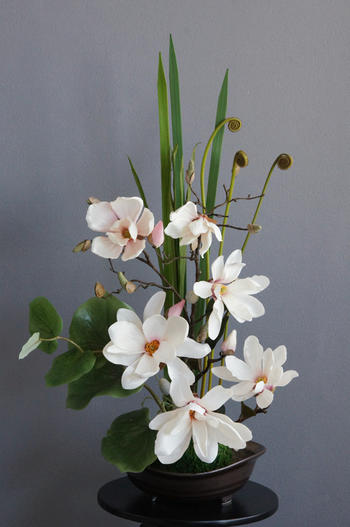 ピンク木蓮 和風スタイル(造花)