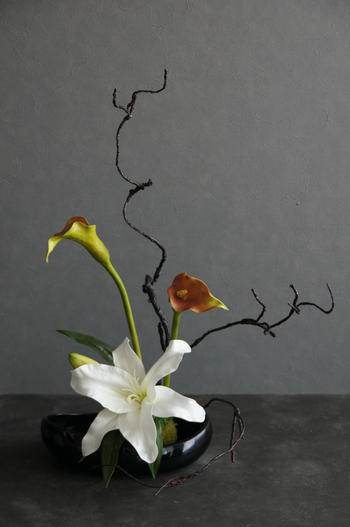 オードリーカサブランカ×モネールカラー 和風スタイル(造花)