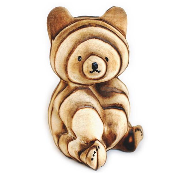 プレゼントやギフトにおすすめの木製の熊の置物 熊ボッコ 置物 中 北海道 お土産 木製 メーカー在庫限り品 木 オブジェ 郷土特産 くまぼっこ インテリア クマボッコ 訳あり商品 熊ぼっこ グッズ