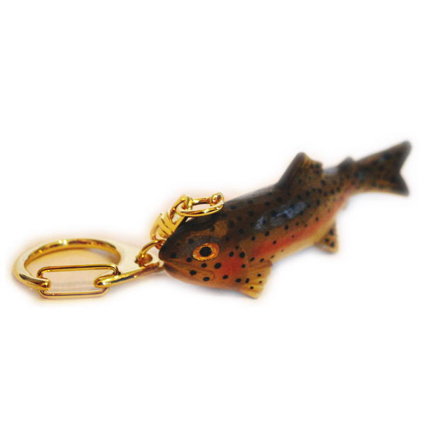 Wooden fish carved wood Keychain rainbow trout. Keychain wooden fish  (rainbow trout) is. ab91c9452