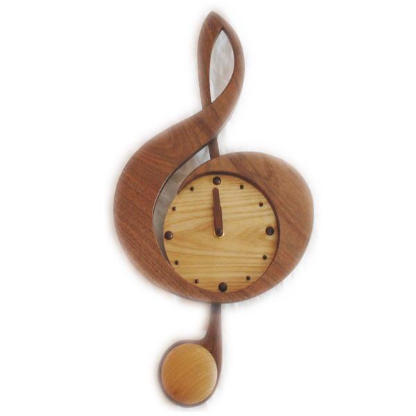 特別セーフ 木製 振り子時計 新ト音記号 掛け時計 木製 新ト音記号 ウォルナット 掛け時計, ユウチョウ:4f8dc162 --- rosenbom.se