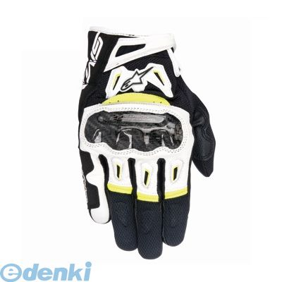 アルパインスターズ alpinestars 8021506612131 SMX-2 AIR CARBON GLOVE 7717 125 BLACK WHITE YELLOW FLUO L