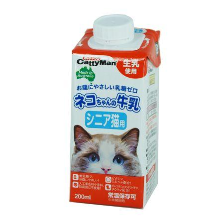 ドギーマン 4974926010343 評判 ネコちゃんの牛乳 訳あり 200ml シニア猫用