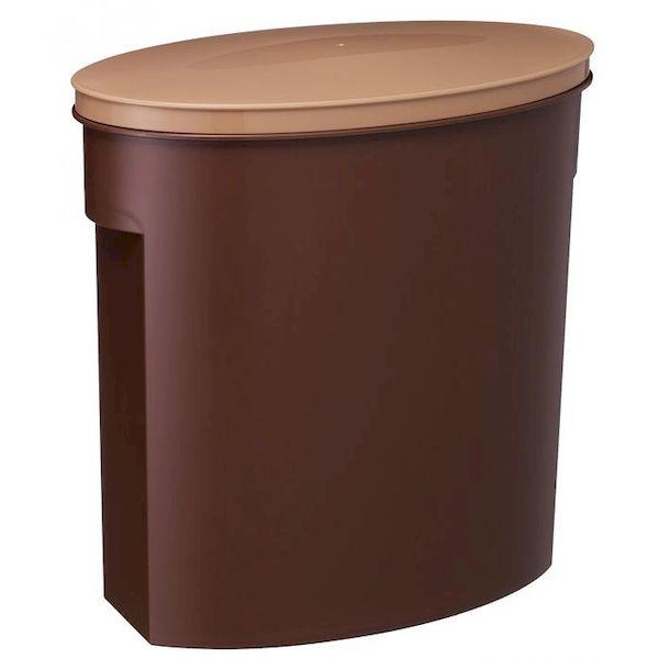 [4966149327339] 【12個入】 お米袋そのまま保存ケース 5 ブラウン