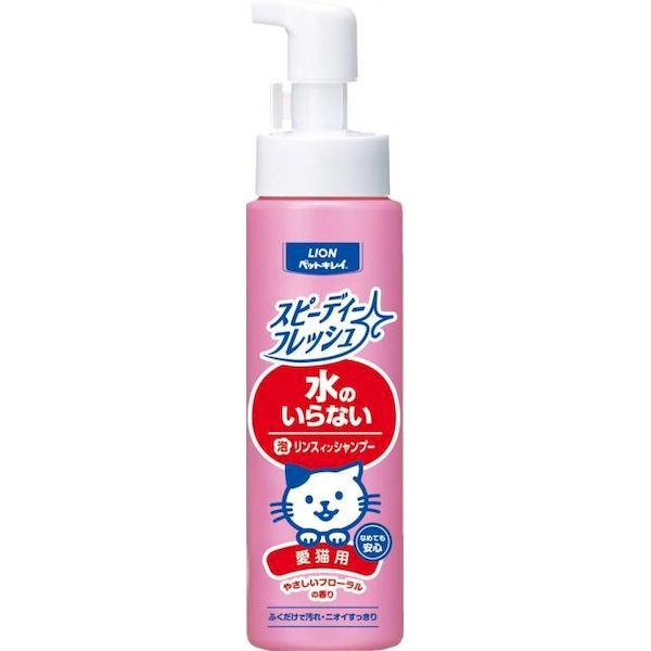 4903351017849 【24個入】ペットキレイ スピーディーフレッシュ 水のいらないリンスインシャンプー やさしいフローラルの香り 愛猫用