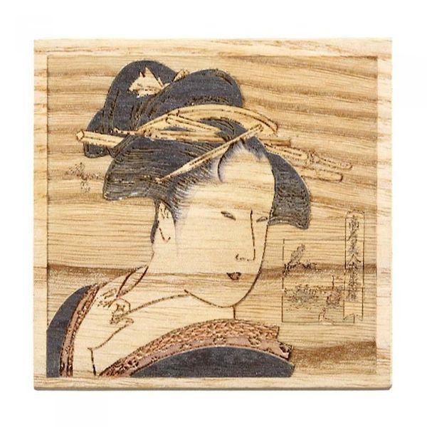 [4988484163472] 【8個入】 浮世絵・桐コースター 高島屋おひさ 16347