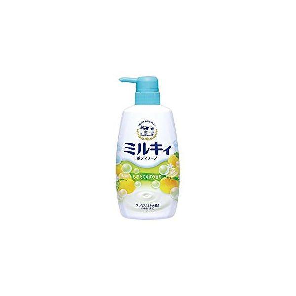 [4901525006330] 【12個入】 ミルキィ ゆずの香りポンプ付550ml