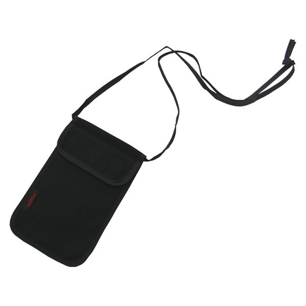 [4905414065903] 【8個入】 スキミング防止ネックポーチ ブラックGW-0906-590