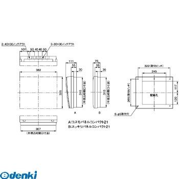 パナソニック Panasonic BQR8616 コスモC露出 L無60A16+0