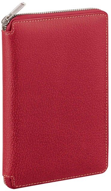 レイメイ藤井 [DB1402R] ダヴィンチ ピッグスキンラウンドファスナー システム手帳 聖書 15mm レッド