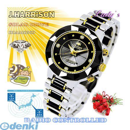 【個数:1個】 JH-024LBB 直送 【代引不可・同梱不可】J.HARRISON 4石天然ダイヤモンド付ソーラー電波婦人用時計JH024LBB