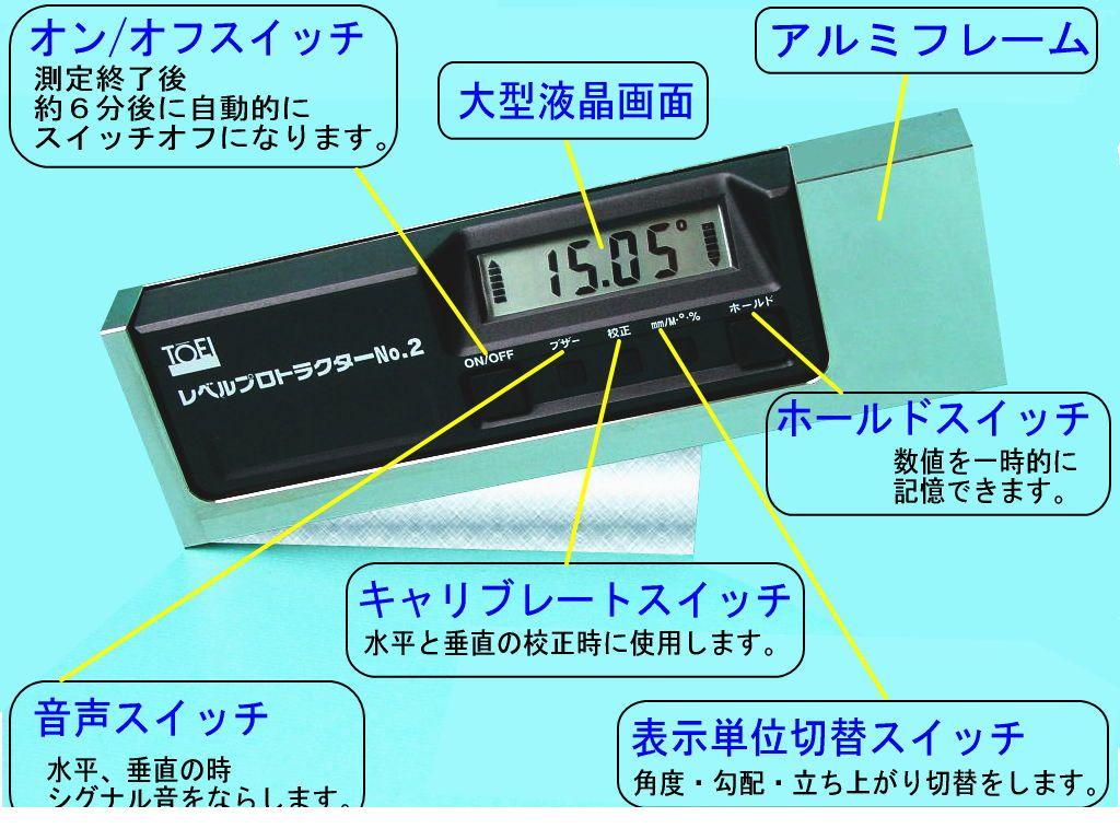 東栄工業 レベルプロトラクターNo.2 レベルプロトラクターNo.2 【送料無料】