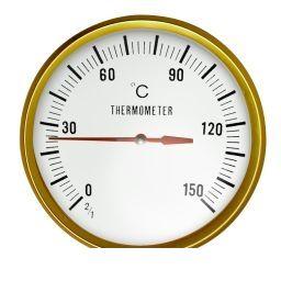 ONDOKEI-300 ドライサウナ用耐熱温度計 直径 300mm