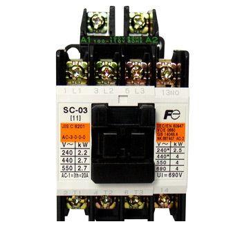 富士電機 SC-N7 COIL-200V 2A2B 標準形電磁接触器 ケースカバーなし SCN7COIL200V2A2B