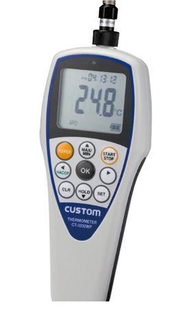 カスタム CUSTOM CT-3200WP 防水デジタル温度計 CT3200WP 449-2081 【送料無料】