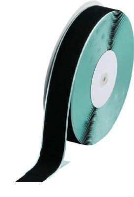 トラスコ中山 TRUSCO TMAN5025BK マジックテープ 糊付A側 幅50mmX長さ2 361-9443 【送料無料】