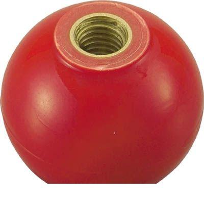 トラスコ中山 TRUSCO TPC4012R 樹脂製握り玉 金具付赤 40XM12mm 329-1880