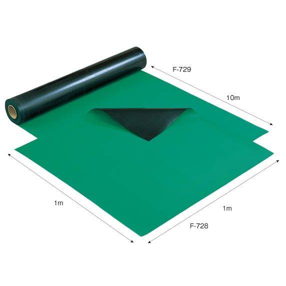 ホーザン HOZAN F-729 導電性カラーマット グリーン 1X10M F729 【送料無料】