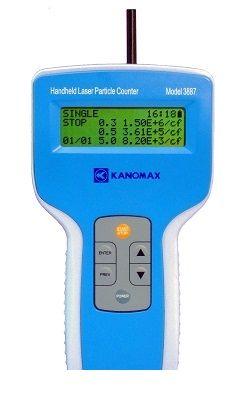 日本カノマックス KANOMAX MODEL3887 【納期:約1週間】 ハンドヘルドレーザパーティクルカウンタ MODEL 3887 【送料無料】