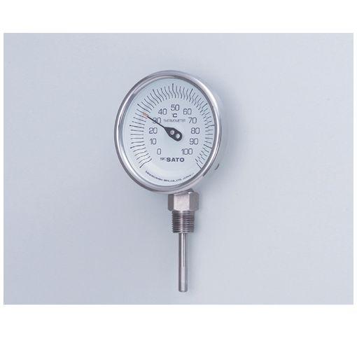 [2-1339-04] バイメタル式温度計BMS-90S 200 2133904 【送料無料】