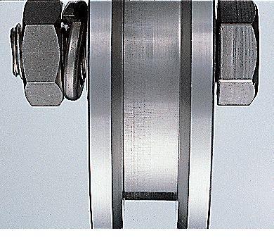 ヨコヅナ JBP-1006 ステンレス重量戸車 車のみ100mm VH兼用 JBP1006 【送料無料】