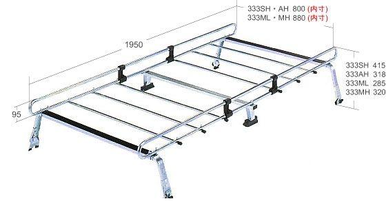 横山製作所 ROCKY STR-333ML ルーフキャリア ミニキャブバン 標準ルーフ STR333ML