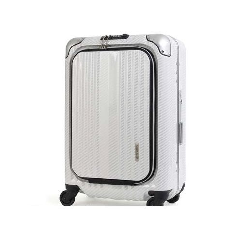 T&S(ティーアンドエス) [6203 50 ラフカーボンホワイトシルバー] ハードキャリーケース スーツケース 620350ラフカーボンホワイトシルバー