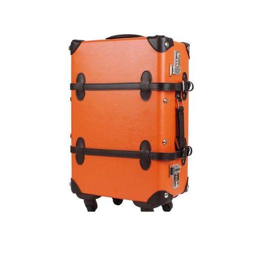 T&S(ティーアンドエス) [7102 47 オレンジ/ブラウン] トランクキャリーケース スーツケース 710247オレンジ/ブラウン