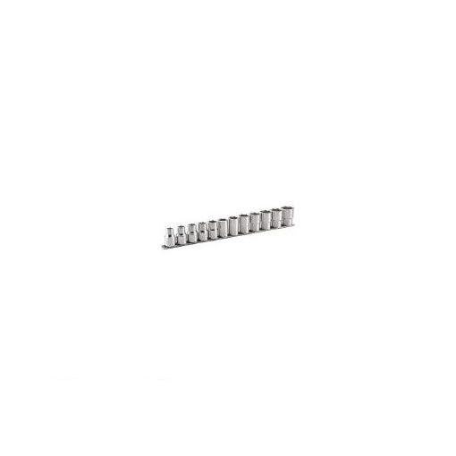 【あす楽対応】前田金属工業(TONE) [HSL412] ディープソケットセット【6角・ホルダー付】 12pcs 369-8513 【送料無料】