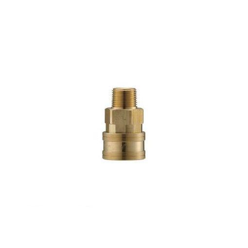 長堀工業 ナック CTL12SM2 クイックカップリング TL型 真鍮製 メネジ取付用 364-5550