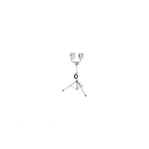【個数:1個】ハタヤリミテッド ハタヤ PHCX305N 防雨型スタンド付ハロゲンライト 300W×2灯 1 453-8595 【送料無料】
