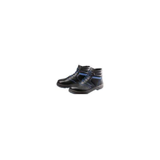 株 シモン シモン SL22BL24.5 安全靴 編上靴 SL22-BL黒/ブルー 24.5 435-1380 【送料無料】