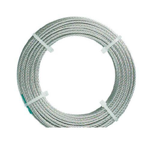 トラスコ中山 TRUSCO CWC15S200 ステンレスワイヤロープ ナイロン被覆 Φ1.5【2.0】mmX20【送料無料】