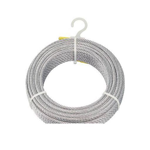トラスコ中山 TRUSCO CWM8S100 メッキ付ワイヤロープ Φ8mmX100m