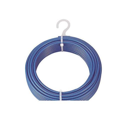 【あす楽対応】トラスコ中山(TRUSCO) [CWP4S200] メッキ付ワイヤロープ PVC被覆タイプ Φ4【6】mmX200m【送料無料】