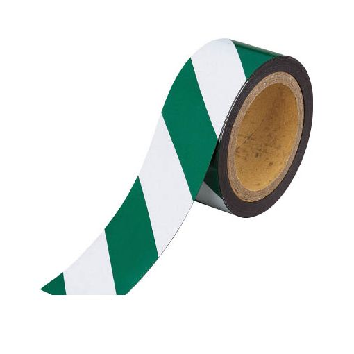 トラスコ中山 TRUSCO TMGH1010GW マグネット反射シート 緑・白 100mmX10m【送料無料】