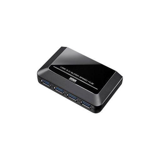 サンワサプライ [USB-HGW410BKN] 4ポートUSB3.0ハブ(ブラック) USBHGW410BKN