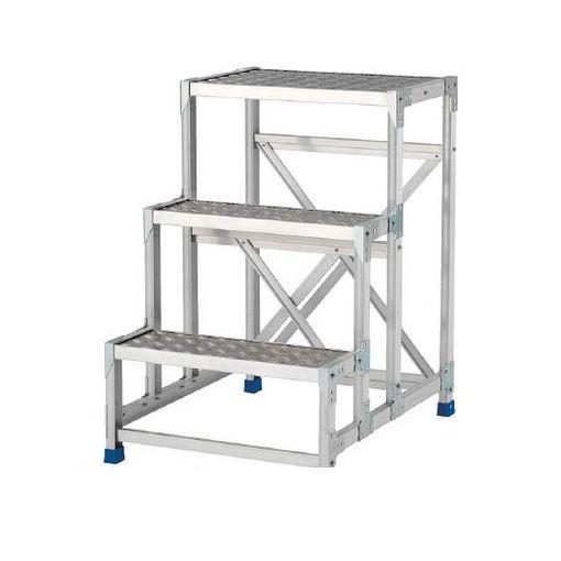 【個数:1個】アルインコ CSBC376S 作業台 天板縞板タイプ 3段