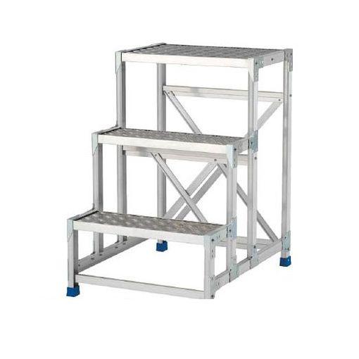 【個数:1個】アルインコ CSBC396S 作業台 天板縞板タイプ 3段