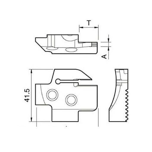 京セラ KGDFR1504BC 溝入れ用ホルダ