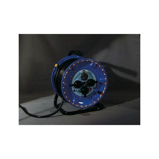 日動 NPWLEB33R 防雨型電工ドラム LEDラインドラム 赤 【送料無料】