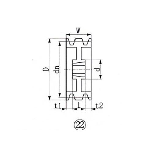 EVN SPA2363 ブッシングプーリー SPA 236mm 溝数3