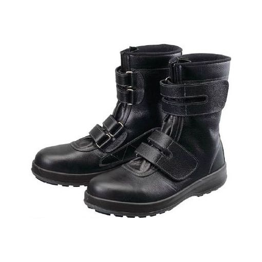 【あす楽対応】シモン[WS3825.0] 安全靴 長編上靴 マジック WS38黒 25.0cm【送料無料】