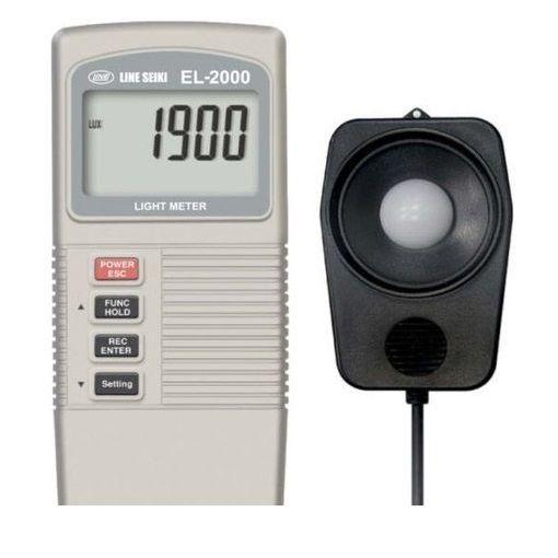 ライン精機 EL-2000 デジタル照度計+温度計 EL2000