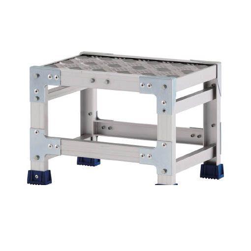 【個数:1個】アルインコ CSBC146S 直送 代引不可・他メーカー同梱不可 作業台 天板縞板タイプ 1段