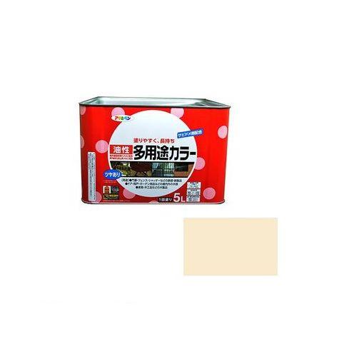 アサヒペン [4970925537621] アサヒペン 油性多用途カラー 5L アイボリー