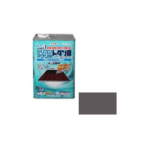 アサヒペン [4970925453334] アサヒペン 水性シリコンアクリルトタン用 14L グレー